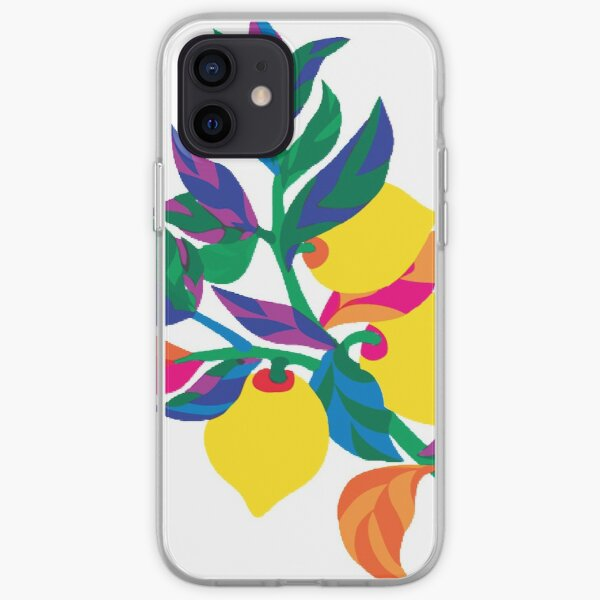 Lemon Abstract Print iPhone Soft Case