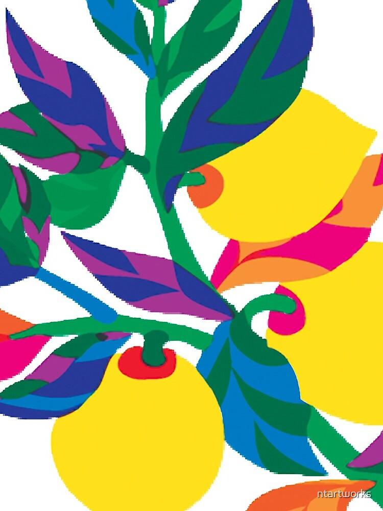 Lemon Abstract Print by ntartworks