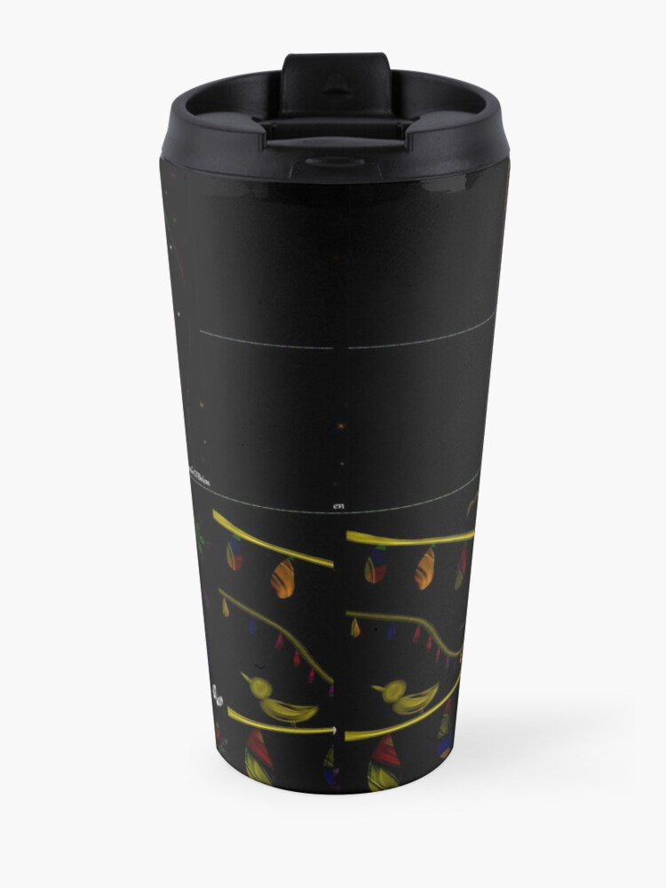 Alternate view of Subtracting Night from Rainbows, full collection Travel Mug