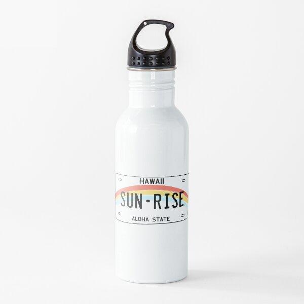 Hawaii Sun Rise License Plate Botella de agua
