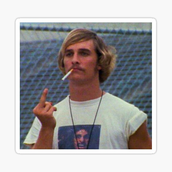 Wooderson Dazed and Confused Sticker