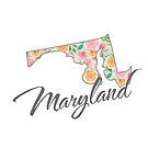 Maryland State | Blumenmuster mit Rosen von PraiseQuotes