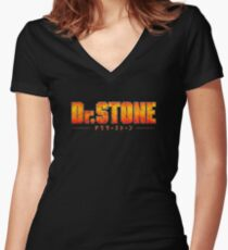 Dr. STONE - Anime / Manga Logo Fitted V-Neck T-Shirt