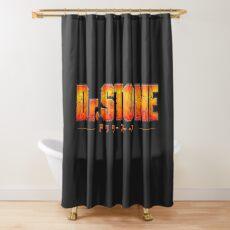 Dr. STONE - Anime / Manga Logo Shower Curtain