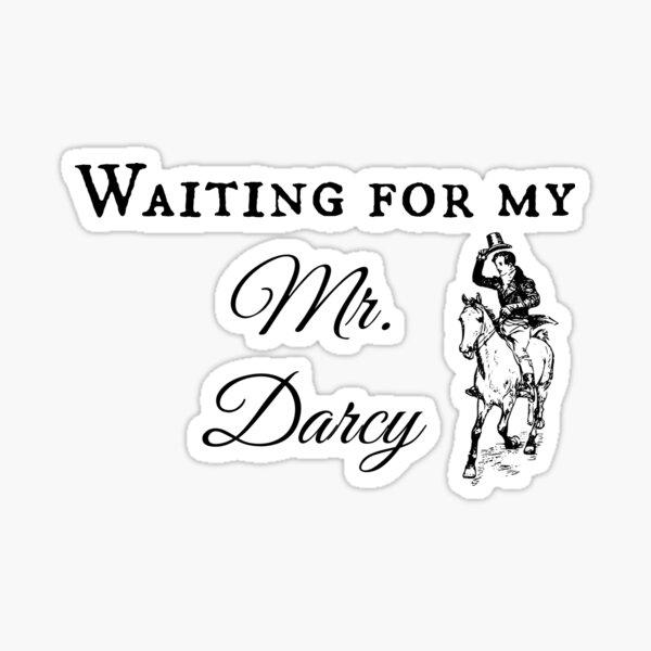 Jane Austen Pride & Prejudice Book Gift Mr. Darcy Sticker