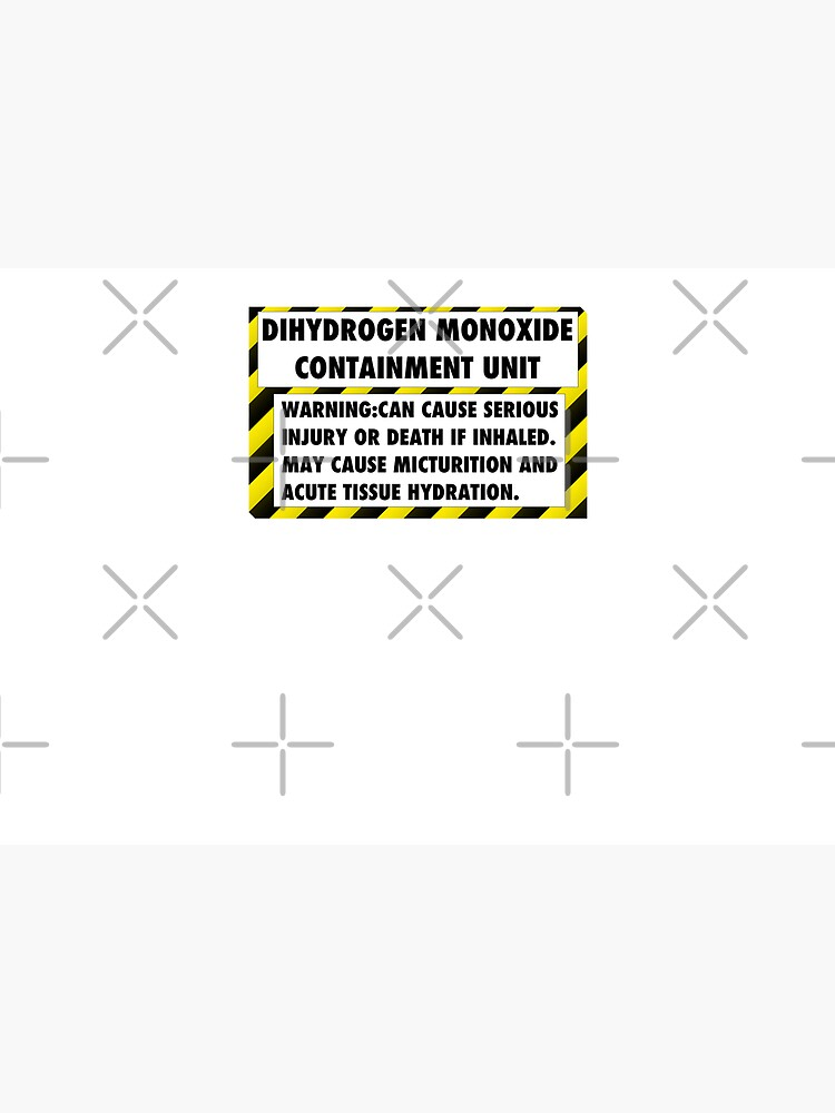 DIHYDROGEN MONOXIDE WARNING LABEL by unixorn