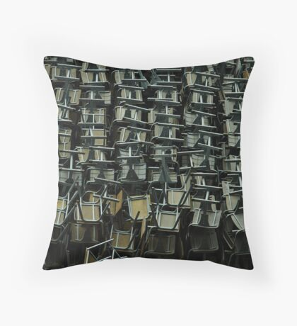 metal chairs Throw Pillow