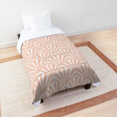 blush pink seashell pattern Comforter