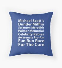 Dunder Mifflin Fun Run Throw Pillow