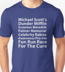 Dunder Mifflin Fun Run Slim Fit T-Shirt