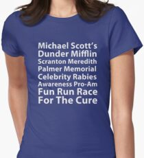 Dunder Mifflin Fun Run Women's Fitted T-Shirt