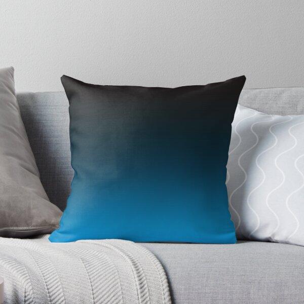 Ombre Cerulean Blue Throw Pillow