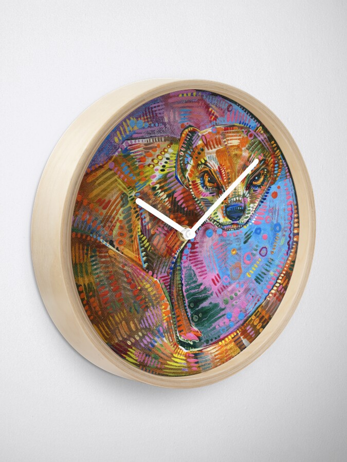 Alternate view of Mongoose Painting - 2015 Clock