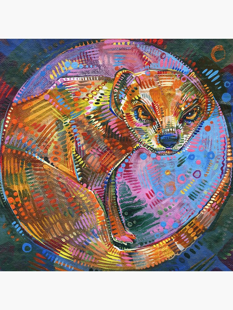 Mongoose Painting - 2015 by gwennpaints