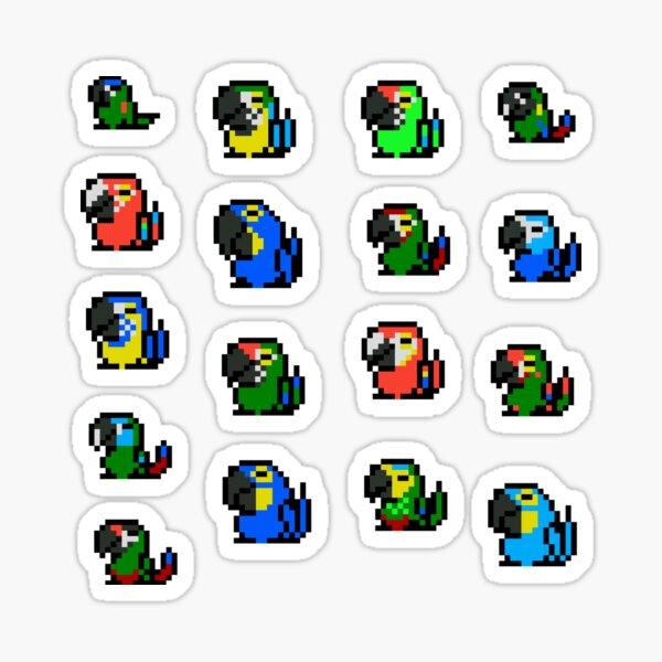 Pendulum Macaws Sticker