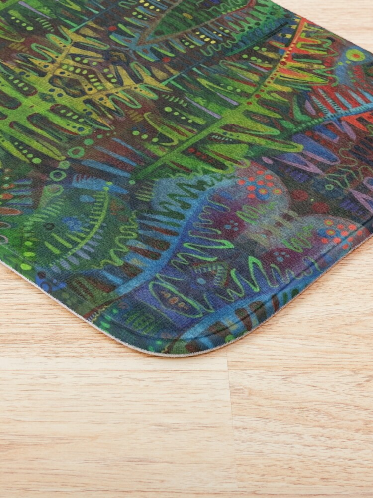 Alternate view of Fern detail painting - 2014 Bath Mat