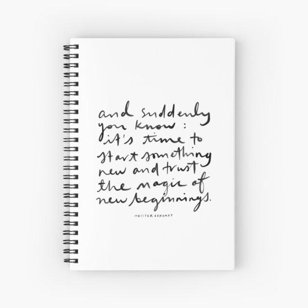 New Beginnings. Spiral Notebook