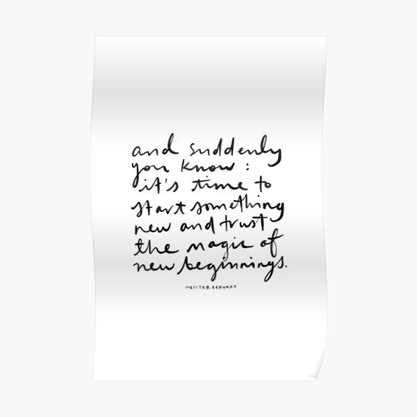 New Beginnings. Poster
