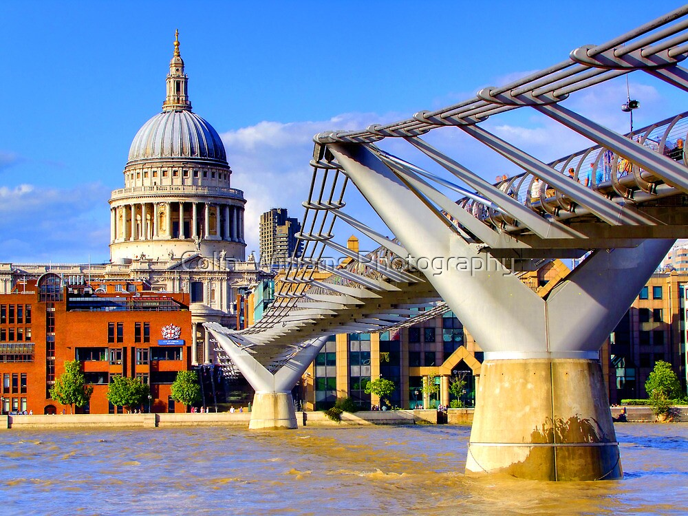 Millennium Bridge and Saint Pauls - London by Colin  Williams Photography
