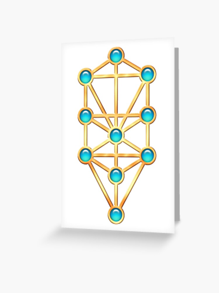 Tree Of Life Kabbalah Sephiroth Greeting Card By Nitty Gritty Redbubble The kabbalah tree of life is a diagram used in various mystical traditions. redbubble