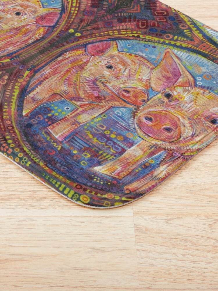 Alternate view of Piggles painting - 2015 Bath Mat