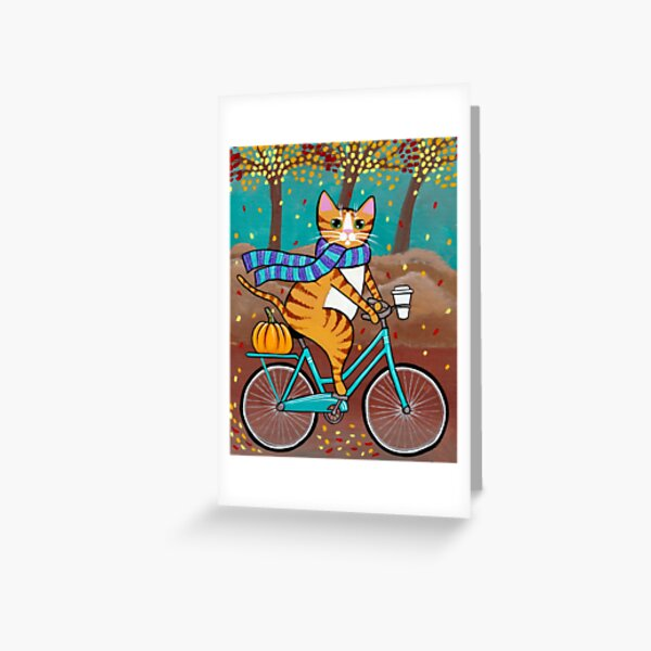 Autumn Bicycle Ride Greeting Card