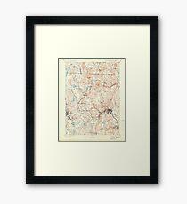 Massachusetts  USGS Historical Topo Map MA Fitchburg 352652 1893 62500 Framed Print