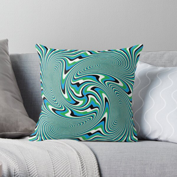 Optical #Art: Moving #Pattern #Illusion - #OpArt Throw Pillow