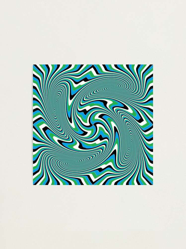 Alternate view of Optical #Art: Moving #Pattern #Illusion - #OpArt Photographic Print