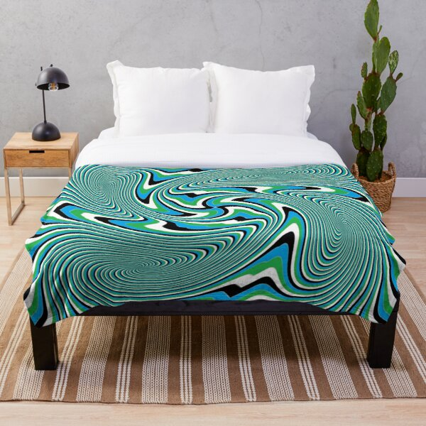 Optical #Art: Moving #Pattern #Illusion - #OpArt Throw Blanket