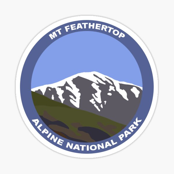 Mt Feathertop  Sticker