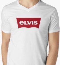 Red Label Elvis Men's V-Neck T-Shirt