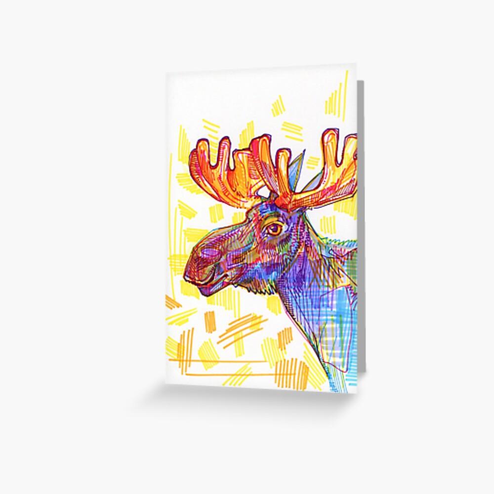 Moose drawing - 2011 Greeting Card
