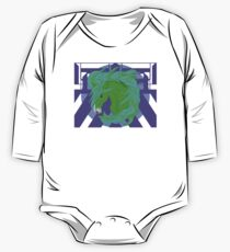Wild Horse Green Long Sleeve Baby One-Piece