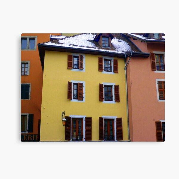 Annecy en couleurs Canvas Print