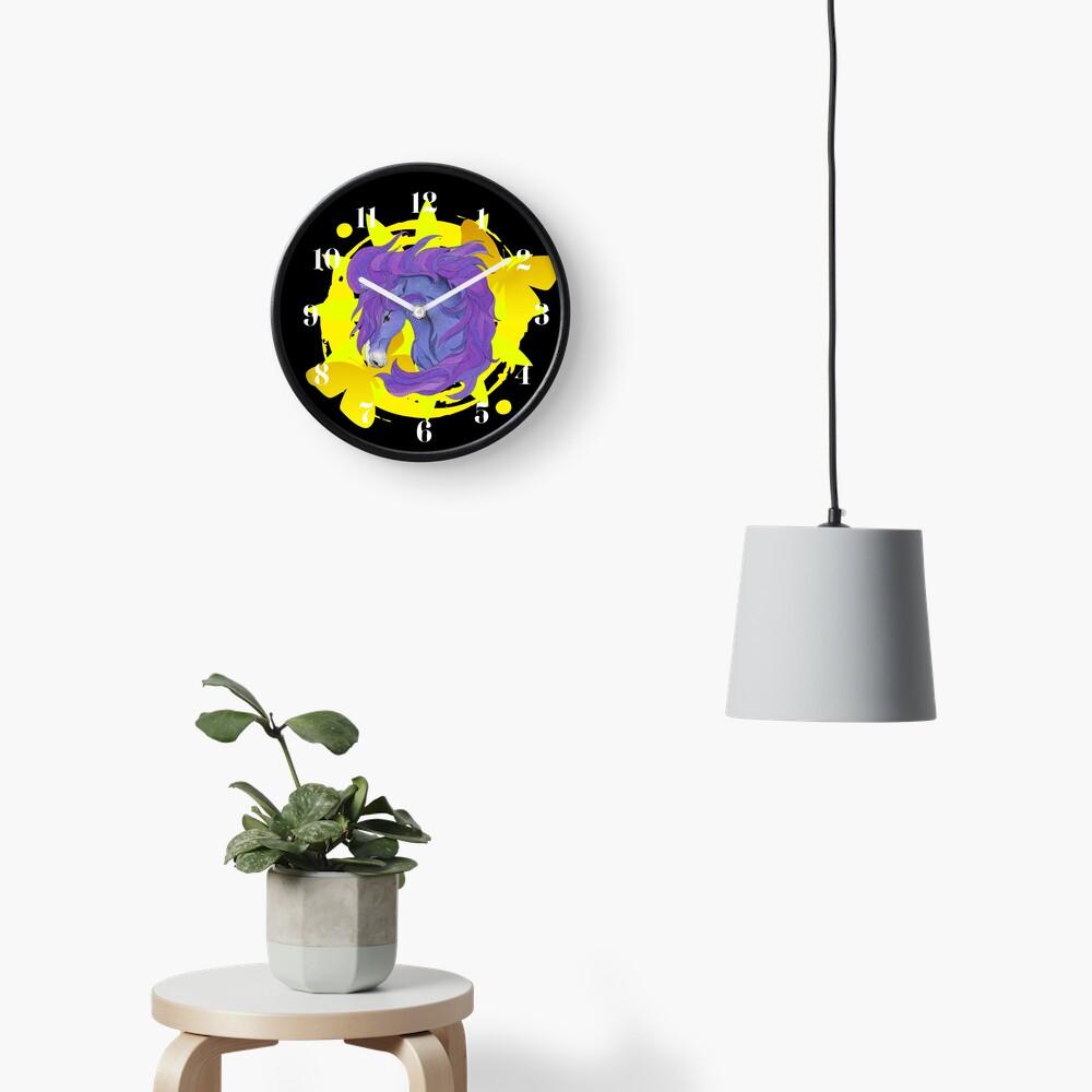 Wild Horse Purple Clock