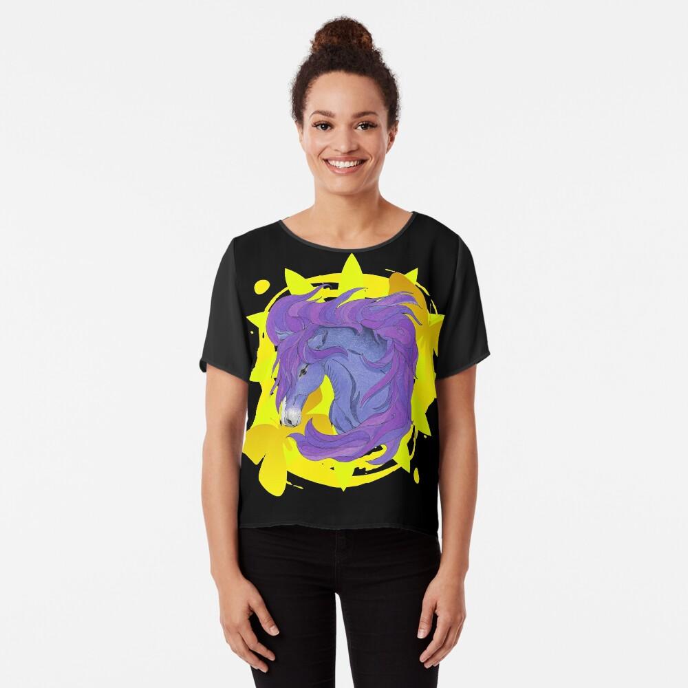 Wild Horse Purple Chiffon Top
