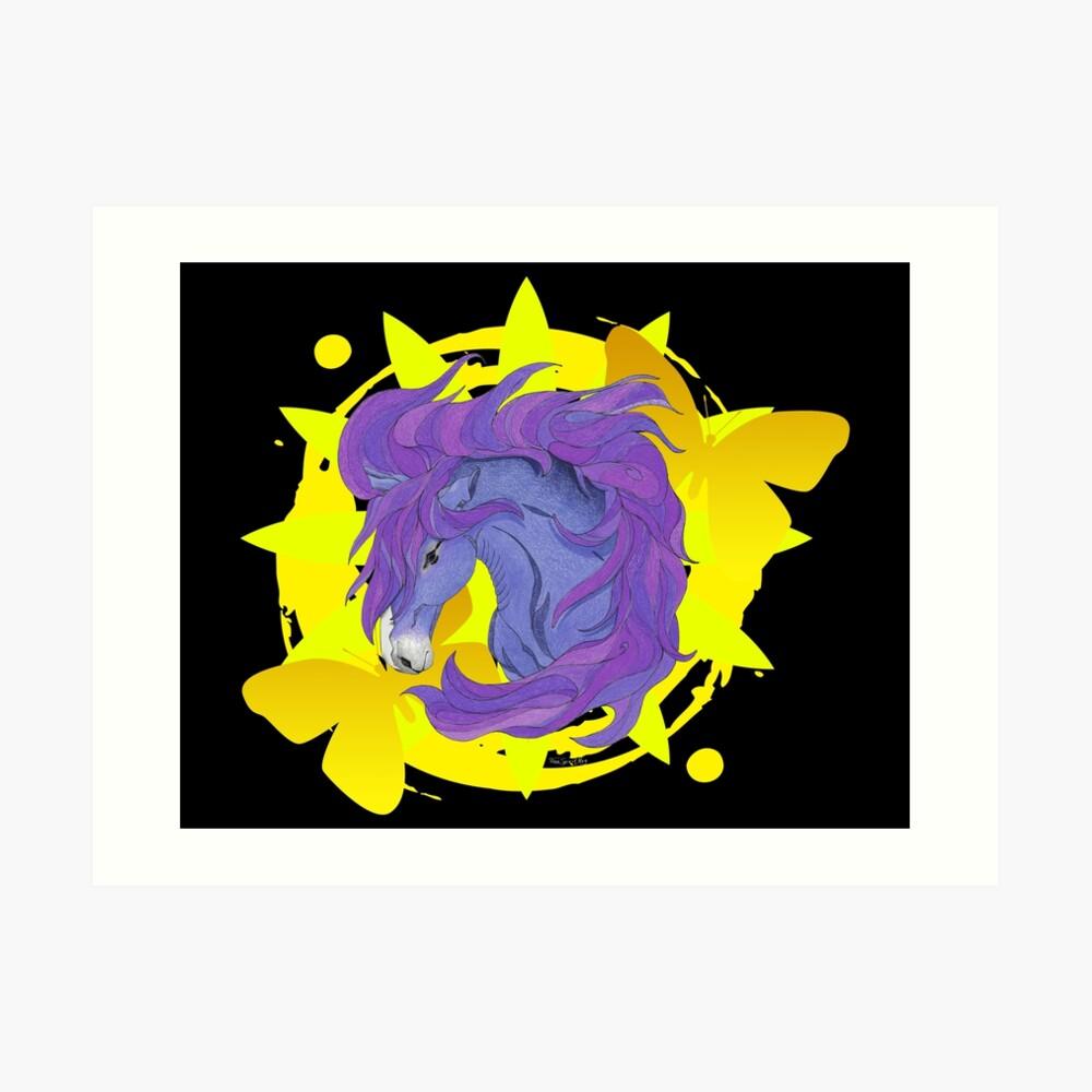 Wild Horse Purple Art Print
