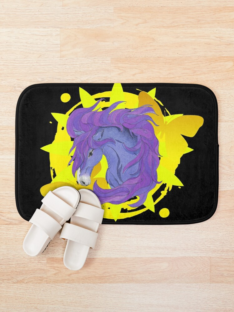 Alternate view of Wild Horse Purple Bath Mat