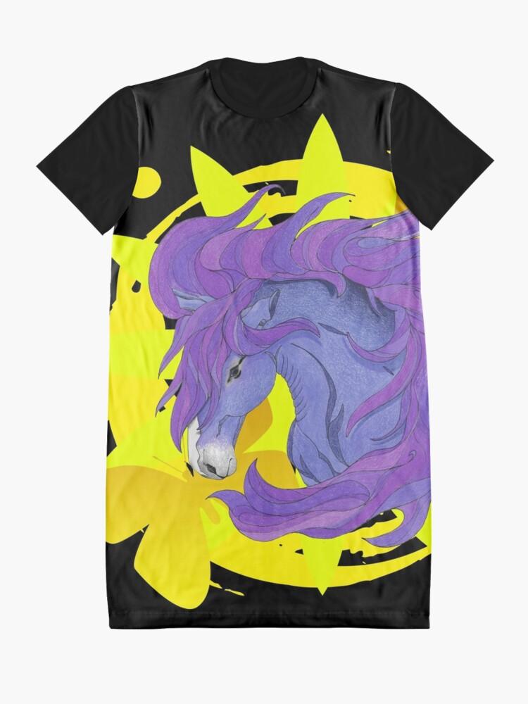 Alternate view of Wild Horse Purple Graphic T-Shirt Dress