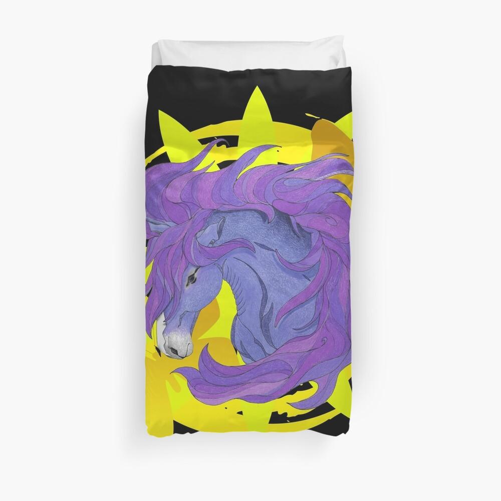 Wild Horse Purple Duvet Cover