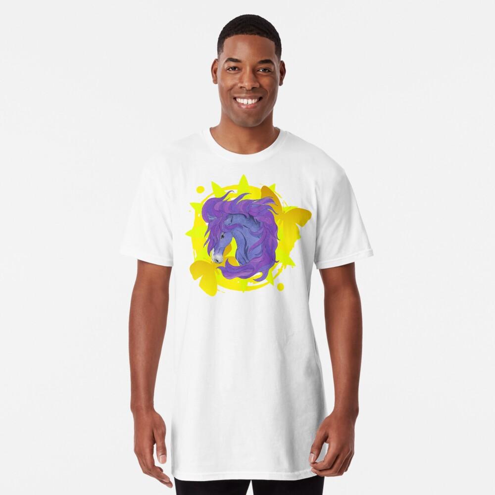 Wild Horse Purple Long T-Shirt