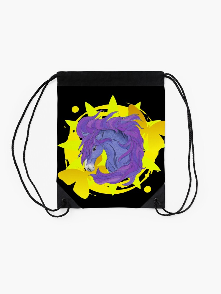 Alternate view of Wild Horse Purple Drawstring Bag