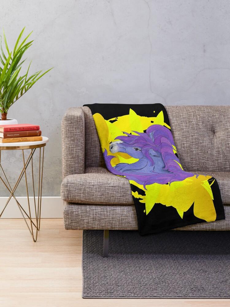Alternate view of Wild Horse Purple Throw Blanket