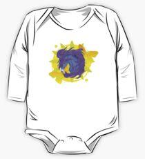 Wild Horse Purple Long Sleeve Baby One-Piece