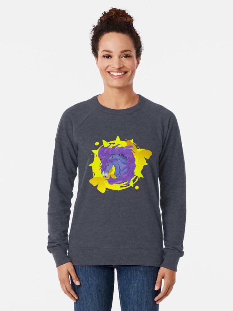 Alternate view of Wild Horse Purple Lightweight Sweatshirt