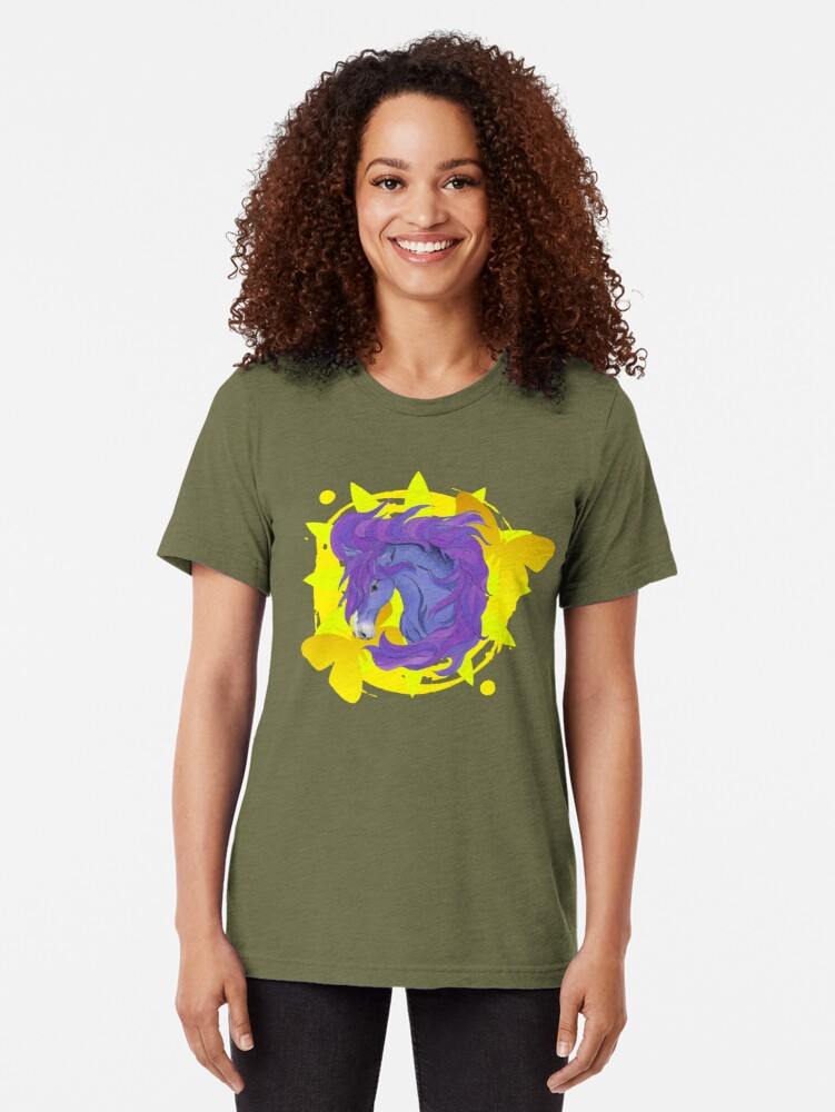 Alternate view of Wild Horse Purple Tri-blend T-Shirt