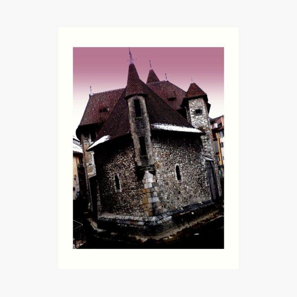 Annecy en angle Art Print