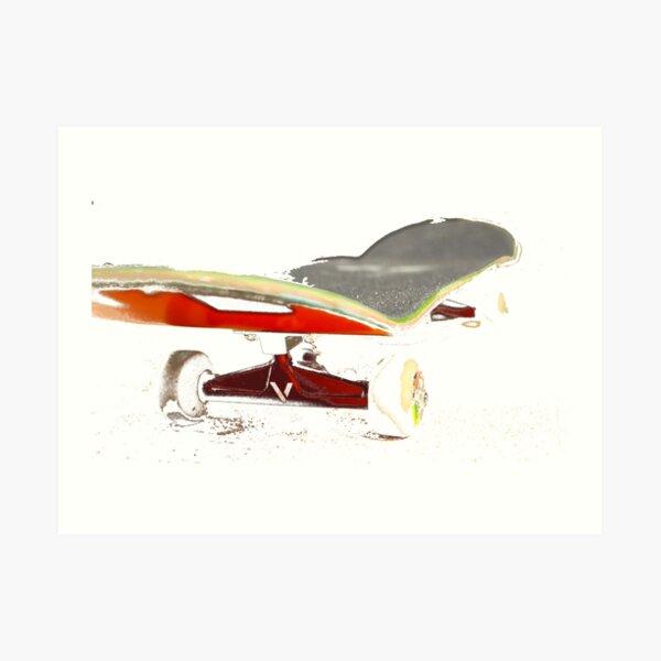 Skateboard Kunstdruck