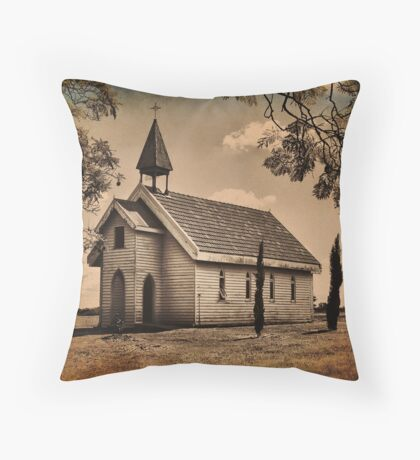Step back in time (Country Church) Throw Pillow